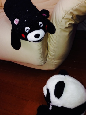 Kumamon meets panda